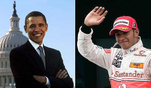 Барак Обама и Льюис Гамильтон лицом к лицу