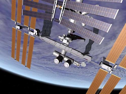 Orbiter - МКС на фоне Земли