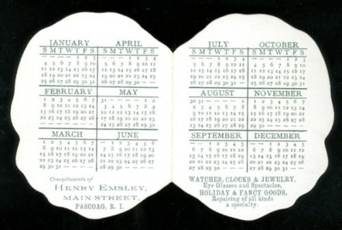 Календарь за 1891 год обратная сторона