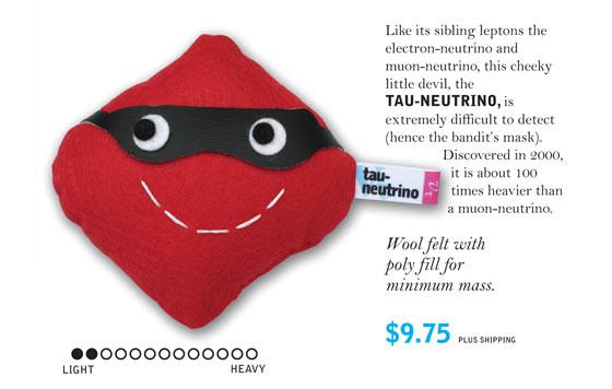 У тау-нейтрино есть маска как у Зорро, потому что оно скрывается от исследователей.